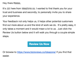 email review solicitation